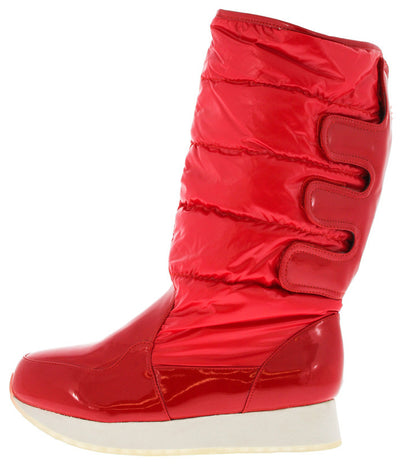 Jupiter1 Red Quilted Snow Boot - Wholesale Fashion Shoes