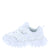 Sara218 White Multi Lace Up Kids Sneaker Flat