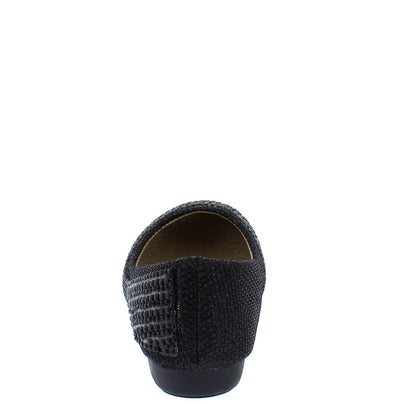 Kd07ks Black Girls Beaded Slide on Rubber Sole Flat - Wholesale Fashion Shoes
