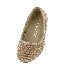 KD07KS GOLD INFANT FLAT - Wholesale Fashion Shoes - 2
