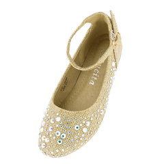 KD19KM GOLD KIDS FLAT - Wholesale Fashion Shoes