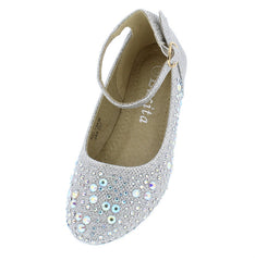KD19KM SILVER KIDS FLAT - Wholesale Fashion Shoes