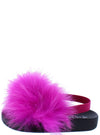 Kathy133 Fuchsia Feather Open Toe Slingback Kids Sandal - Wholesale Fashion Shoes