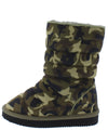 Donna233 Camouflage Quilted Pull On Flat Kids Boot - Wholesale Fashion Shoes