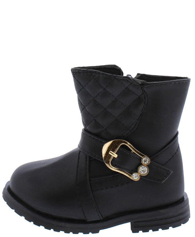 Bbt125ks Black Infants Boot - Wholesale Fashion Shoes