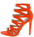 Kaie10 Orange Open Toe Lucite Strap Cut Out Stiletto Heel
