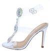 Kaie11 Silver Jeweled Lucite Strap Open Toe Stiletto Heel - Wholesale Fashion Shoes