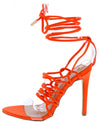 Kaie7 Orange Lucite Open Toe Ghillie Lace Up Ankle Wrap Heel - Wholesale Fashion Shoes