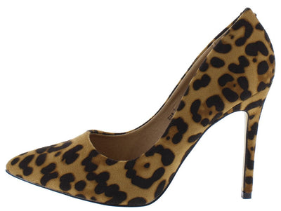 Kali01 Leopard Pointed Toe Stiletto Heel - Wholesale Fashion Shoes