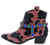Alonddra162 Pink Wrap Jewel Strap Western Boot - Wholesale Fashion Shoes
