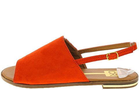 KAMAQNS1 ORANGE FLAT SLINGBACK SANDAL - Wholesale Fashion Shoes - 1