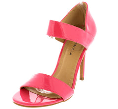 KAYLEE CORAL PATENT LEATHER WOMEN'S HEEL - Wholesale Fashion Shoes