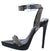 Kazia Black Embellished Open Toe Low Platform Stiletto Heel