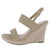 Kelly10 Nude Open Toe Slingback Espadrille Wedge