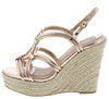 Kelsey120ax Rose Gold Women's Wedge - Wholesale Fashion Shoes