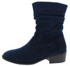 Kennedy02 Navy Relaxed Side Zip Crew Boot - Wholesale Fashion Shoes