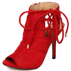 KENT02 RED WOMEN'S HEEL - Wholesale Fashion Shoes