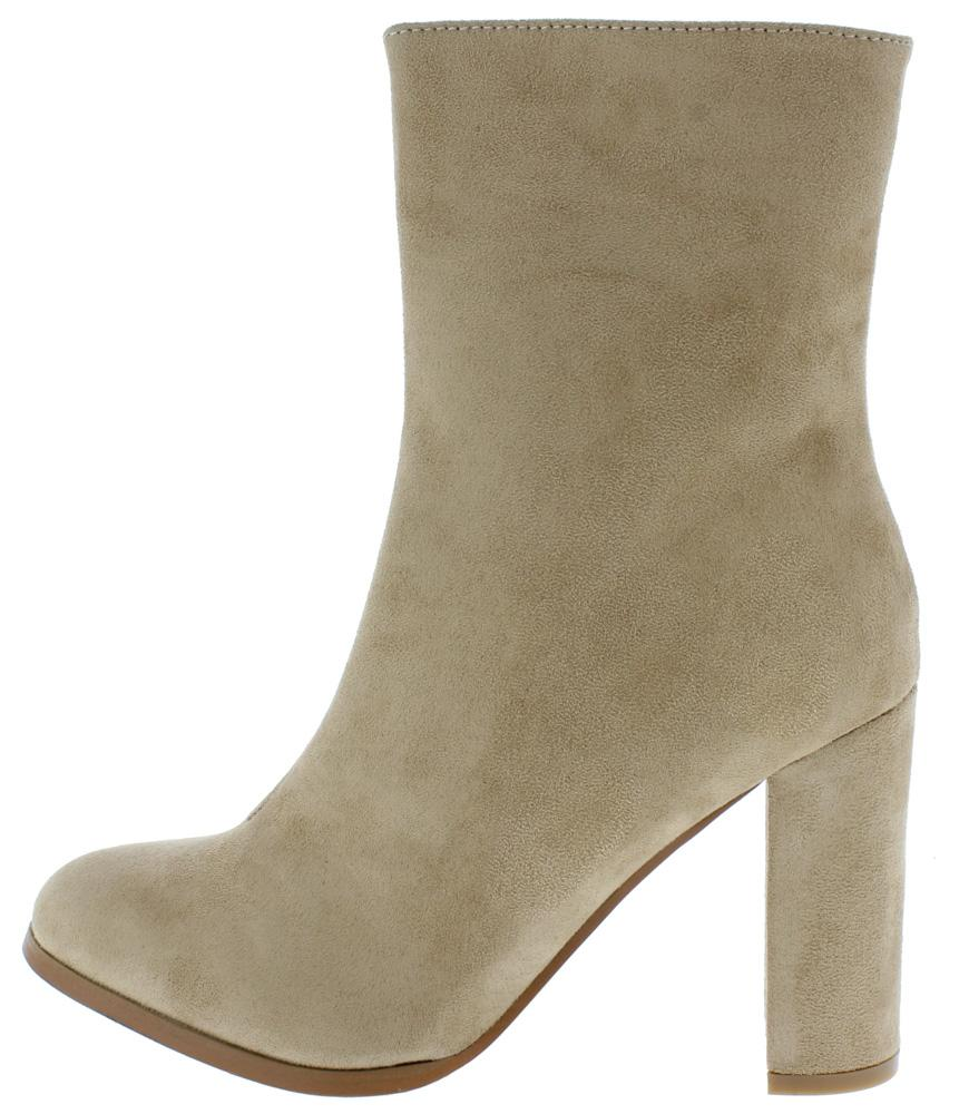 f7056af043f0be Kess02 Taupe Almond Toe Extended Ankle Boots From  12.88 -  29.88 ...