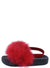 Kathy133 Red Feather Open Toe Slingback Kids Sandal