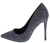 Andrea120 Flash Sparkle Animal Print Pointed Toe Stiletto Heel - Wholesale Fashion Shoes