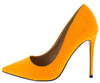 Maribel259 Neon Orange Pointed Toe Stiletto Pump Heel - Wholesale Fashion Shoes
