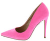Maribel259 Neon Pink Pointed Toe Stiletto Pump Heel - Wholesale Fashion Shoes