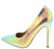 Christine104 Pink Hologram Women's Heel