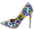 Christine104 White Graffiti Women's Heel