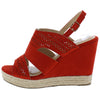 Kinsley01 Orange Red Open Toe Cut Out Laser Cut Slingback Wedge - Wholesale Fashion Shoes