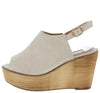 Kite03 Beige Peep Toe Slingback Platform Wood Wedge - Wholesale Fashion Shoes