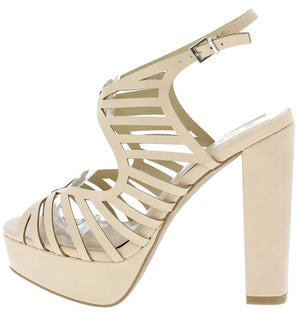 ca4cdbfcb5a Klossy14 Natural Pu Strappy Sling Back Platform Heel - Wholesale Fashion  Shoes