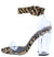 Kloude39 Tan Black Tiger Suede Pu Women's Heel