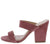 Kota01 Dusty Rose Open Toe Dual Strap Mule Angled Heel