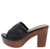 Kyrie02 Black Pu Women's Heel - Wholesale Fashion Shoes