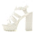 Lad22a White Crocodile Women's Heel