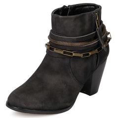 EVELYN098 BLACK WOMEN'S BOOT - Wholesale Fashion Shoes