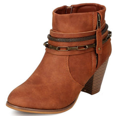 EVELYN098 TAN WOMEN'S BOOT - Wholesale Fashion Shoes