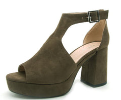 LAWSON01 KHAKI WOMEN'S HEEL - Wholesale Fashion Shoes