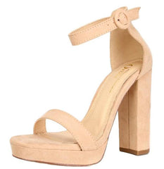 LINCOLN CAMEL SUEDE WOMEN'S HEEL - Wholesale Fashion Shoes