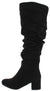 Linden04ok Black Almond Toe Over The Knee Boot