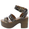 Lodge04 Light Taupe Brown Snake Pu Women's Heel - Wholesale Fashion Shoes