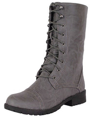 LUG11 GREY WOMEN'S BOOT - Wholesale Fashion Shoes - 2
