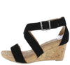 Labor Black Cork Women's Wedge - Wholesale Fashion Shoes