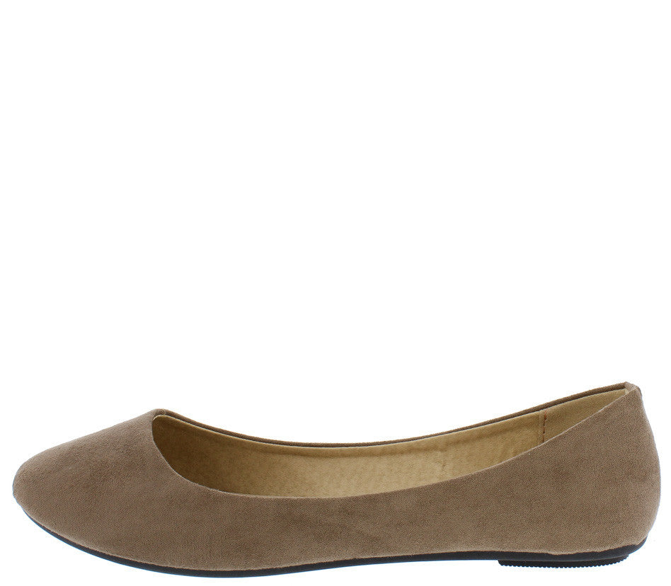 301bc75bdc44 Lady02 Taupe Fashion Suede Full Coverage Ballet Flat Shoe Flat - Wholesale  Fashion Shoes