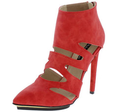 ADELINE161 RED WOMEN'S HEEL - Wholesale Fashion Shoes