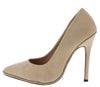 Destiny300 Nude Suede Studded Pointed Toe Stiletto Heel - Wholesale Fashion Shoes