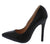 Perla225 Black Pu Pointed Toe Stiletto Heel
