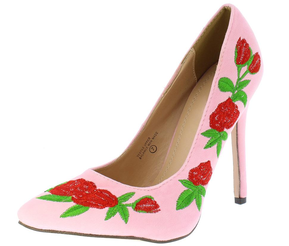 Elizabeth197 light pink suede floral embroidered heels on elizabeth197 light pink suede floral embroidered heel wholesale fashion shoes mightylinksfo