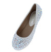 Larisa39k White Round Toe Rhinestone Kids Ballet Flat - Wholesale Fashion Shoes