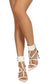Anna234 White Pointed Open Toe Buckle Strap Stiletto Heel